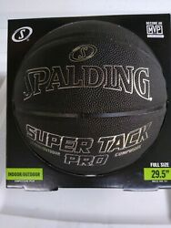 Spalding NBA 29.5 Super Tack Pro Indoor Outdoor Composite Leather Basketball $24.99