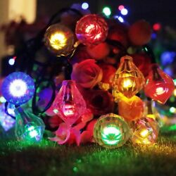 16ft Outdoor Strings Solar Light Diamond Shaped 20 LED for Xmas Party Home Lawn
