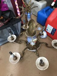 Bronze And China antique chandelier $180.00