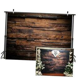 Brown Wood Backdrop for Photography Customized Vintage Background for 7x5ft $20.33