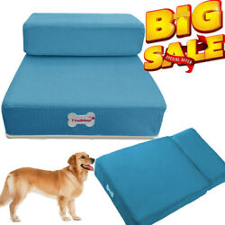 Portable Dog Steps 2 Steps Pet Stairs Small Dogs Cats Ramp Ladder For High Bed $19.99