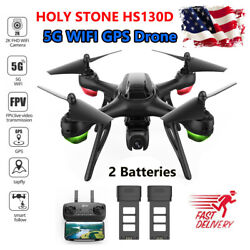 Holy Stone HS130D Drone 5G GPS WIFI 2K HD Camera RC Quadcopter FPV 2 Batteries $74.00