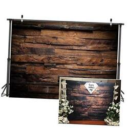 Brown Wood Backdrop for Photography Customized Vintage Background for 7x5ft $26.64