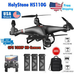 Holy Stone HS110G Drone FPV GPS with 1080P HD Camera Selfie Quadcopter Follow Me $124.99