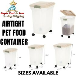 Airtight Storage Container Large Bin For Pet Cat Dog Food Bird Seeds Rolling Box $23.79