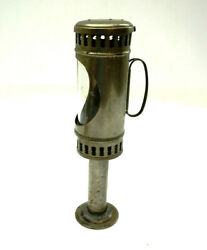 Antique Tin Skaters Lantern ? Candle Holder with glass window 9.5quot; tall $134.99