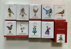 Hallmark Twelve 12 Days of Christmas from 2011 to 2020 10 Ornaments Series Lot $388.00