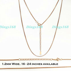 Menamp;Womens 18K Rose Gold Filled 1.2mm Thin 19quot; 21quot; Round Box Chain Necklace R208 $16.99