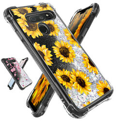 For LG G8 G7 ThinQ Case Liquid Glitter Shockproof Phone Cover Cherry Flower Cute $10.99