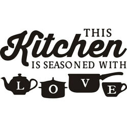 Kitchen Wall Decals Removable Vinyl Sticker Art Home Personalised Decor Mural US $7.19