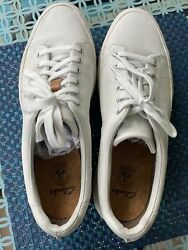 Clarks sneakers mens 12 white leather NIB Width M $44.00