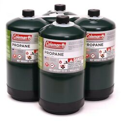 🏕COLEMAN propane fuel Cylinders 16 Oz 4 pack 🔥✅ $34.99