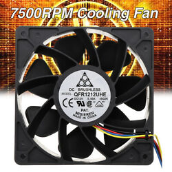 7500RPM Miner Cooling Fan Replacement 4 pin Connector For Antminer Bitmain S7 $16.55