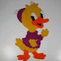 Vintage Melted Plastic Popcorn Pink Fuscia Cute Chick Duck Easter Decoration $14.99