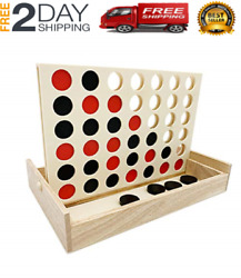 Giant Connect 4 Large Outdoor Games Yard Big Huge Four Lawn Wooden Jumbo Gam NEW $25.99