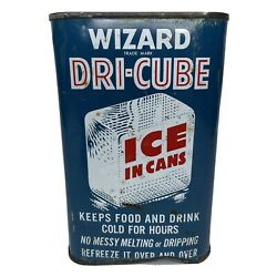 Vintage Wizard Dri Cube Ice In Cans Refreeze It Over And Over Full Dented $10.99