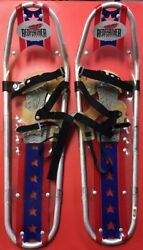Redfeather Showshoes Blue Adult Used Worn Large Hiking Winter Snow Shoes Feather $24.99