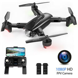 SNAPTAIN FPV Drone 1080P HD Camera 5G WIFI RC Quadcopter GPS Location2 Battery $69.99