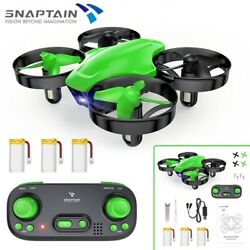 SNAPTAIN SP350 Mini RC Drone 2.4G 360°Flip Hover micro Quadcopter For Kids Green $15.98