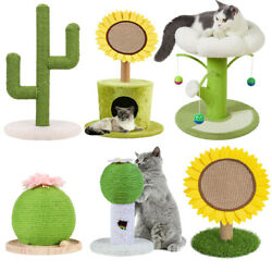 Cat Scratching Post Cactus Scratcher Poles Condo Climbing Tower Kitty Play Tree $27.95