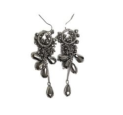 Simply Vera Wang Chandelier Fashion Hanging Earrings Pewter Dark Silver Color $11.99