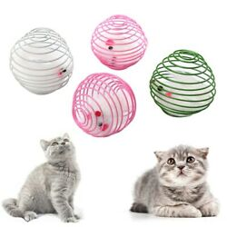 Pet Products Pet Supplies Cat Kitten Toy Interactive Mouse Cage Play Toy Spring $2.99