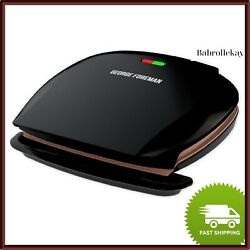 George Foreman 5 Serving Classic Electric Indoor Grill amp; Panini Press $38.90