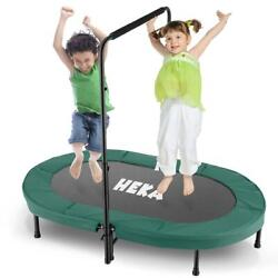 NEW Mini Foldable Trampoline With Bar Urban Rebounder Bouncing Exercise Yoga Gym $105.99