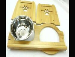 X ZONE PET Raised Pet Bowls for Cats and Dogs Adjustable Bamboo Elevated Dog Ca $28.99