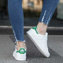 New Adidas Stan Smith B24105 White Green Womens Athletic tennis Shoes $59.99