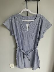 NEW Vineyard Vines Striped Tunic Dress Ocean Reef Women#x27;s Large with Tags $40.00