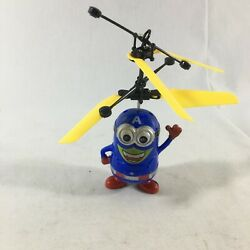 Kids Minion Captain America Action Figure Flying Helicopter Toys Without Charger $18.99
