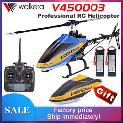 Walkera V450D03 6 Axis Stabilization System 6CH Single Blade HelicopterUS Plug $404.95