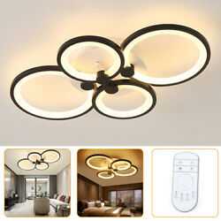 Ceiling Light Chandelier Fixtures Living Room Lamp Remote Control 4 Heads 60W US $66.40