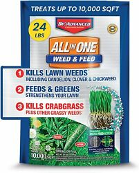 BioAdvanced Weed amp; Feed Crabgrass Killer Solutions Lawn Fertilizer 24 Pounds $69.39