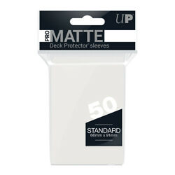 Ultra Pro Gaming Sleeves Deck Protector CLEAR PRO MATTE Standard Size 50 Ct Pack $3.99