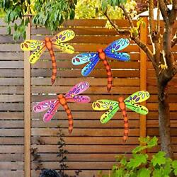 3D Metal Dragonfly Wall Accents Dragonfly Wall Decor Sculpture Hang Outdoor $26.64