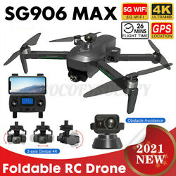 5G WIFI FPV RC Drone Quadcopter RTF With 4K HD Camera 3 Axis Anti shake Gimbal $213.99