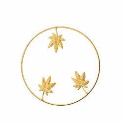 Gold Home Office Metal Leaf Wrought Iron Bedroom Hanging Parts Wall Decoration $12.77