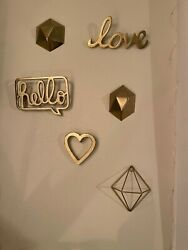 Gold Metal Wall Accents $30.00