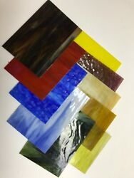 """Stained Glass Sheets All Premium Glass 10pcs 5"""" x 7"""" FREE SHIPPING $29.95"""