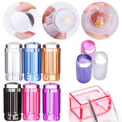 DIY Jelly Silicone Nail Art Stamping Plate Stamper Scraper Manicure Decoration $2.49