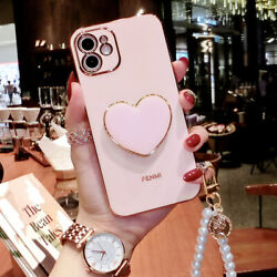Girl#x27;s Cute Shockproof Holder Case w Strap For iPhone 13 12 11 Pro XS Max XR 8 $9.99