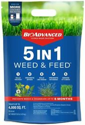BIOADVANCED 704860U 5 in 1 Weed and Feed Lawn Fertilizer and Crabgrass Killer 4 $32.39