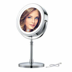 10X Magnifying Lighted Makeup Mirror 7 Inch Double Sided Desk LED Vanity Mirrors $39.89