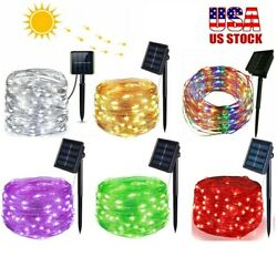 LED Solar String Lights Copper wire Outdoor Party Xmas Garden Decor Waterproof