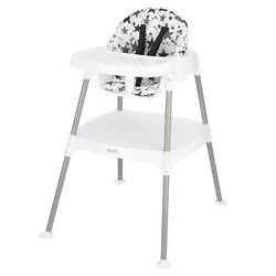 Evenflo 4 in 1 Eat amp; Grow Convertible High Chair Pop Star Gray NEW FAST SHIP $62.04