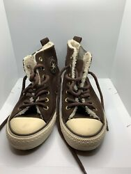Converse Chuck Taylor All Star Women Size 8 Fleece Lined Suede High Top Shoes $50.00