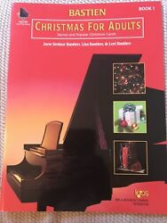 Bastien Christmas For Adults Book 1 Piano Sacred And Popular CarolsNEW $9.75