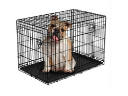 Vibrant Life Double Door Folding Dog Crate with Divider Large 36quot; $41.99